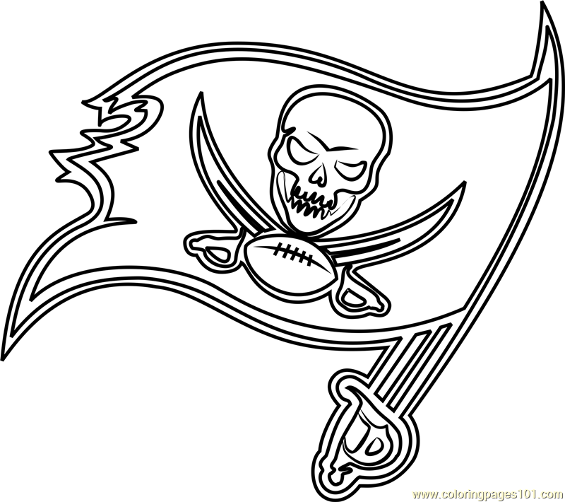 Tampa Bay Buccaneers Logo Coloring Page Free Nfl