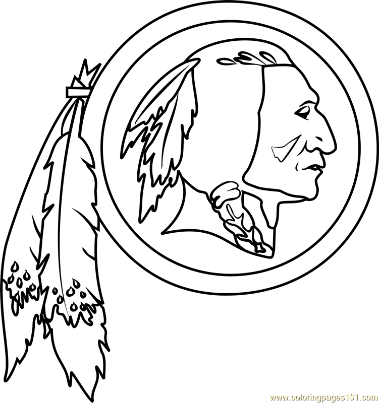 Washington Redskins Logo Coloring Page Free Nfl Coloring