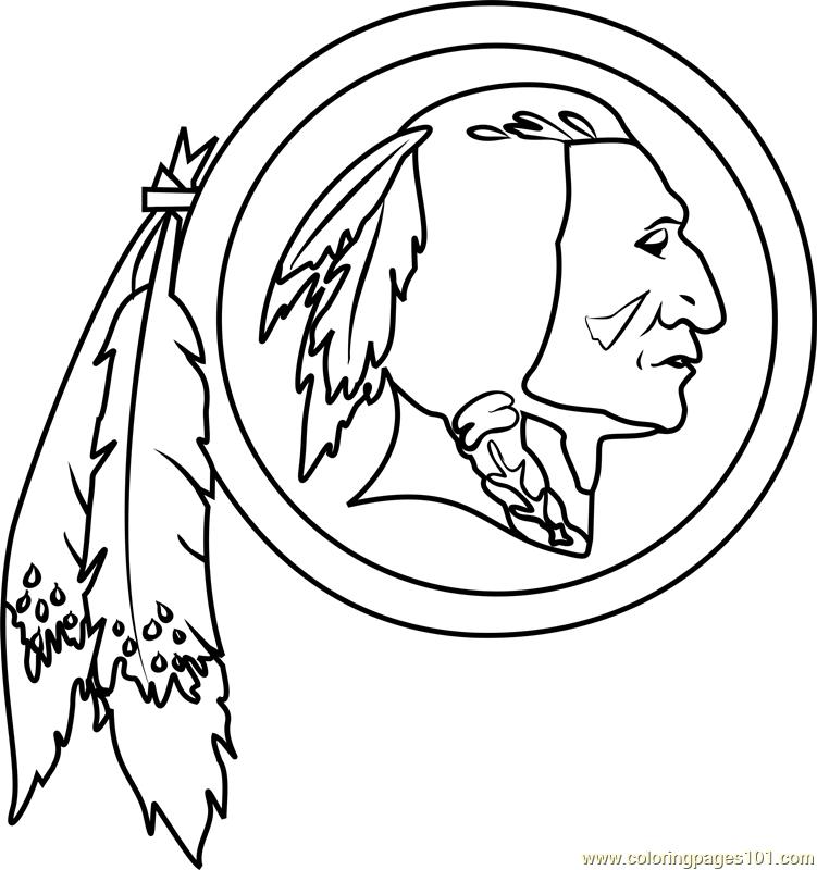 redskins coloring pages - washington redskins logo coloring page free nfl coloring