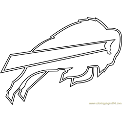 Buffalo Bills Logo Free Coloring Page for Kids