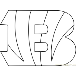 Cincinnati Bengals Logo Free Coloring Page for Kids