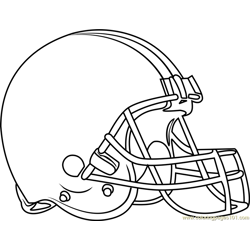 Cleveland Browns Logo Free Coloring Page for Kids