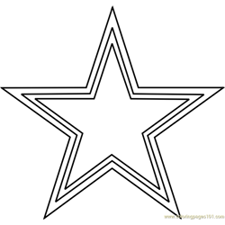 Dallas Cowboys Logo Free Coloring Page for Kids