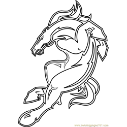 Denver Broncos Mascot Free Coloring Page for Kids