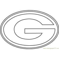 Green Bay Packers Logo Free Coloring Page for Kids
