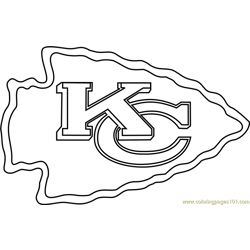 Kansas City Chiefs Logo Free Coloring Page for Kids
