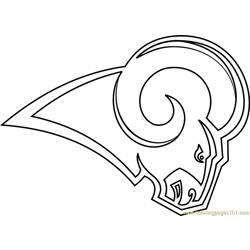 Los Angeles Rams Logo Free Coloring Page for Kids