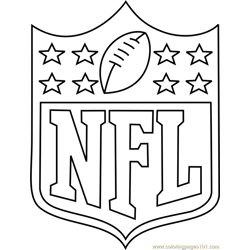 NFL Logo Free Coloring Page for Kids
