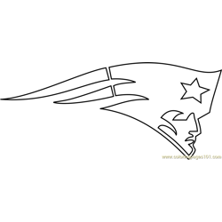 New England Patriots Logo Free Coloring Page for Kids