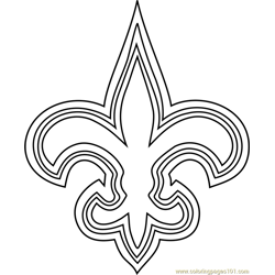 New Orleans Saints Logo Free Coloring Page for Kids