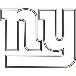 New York Giants Logo Free Coloring Page for Kids