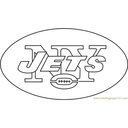 New York Jets Logo Free Coloring Page for Kids