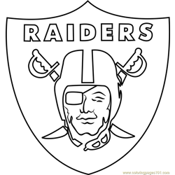 Oakland Raiders Logo Free Coloring Page for Kids
