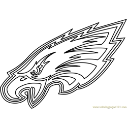 Philadelphia Eagles Logo Free Coloring Page for Kids