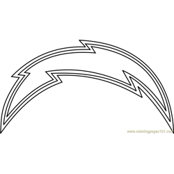 San Diego Chargers Logo Free Coloring Page for Kids