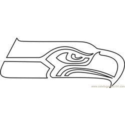 Seattle Seahawks Logo Free Coloring Page for Kids