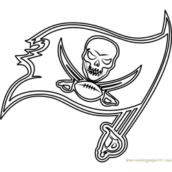 Tampa Bay Buccaneers Logo Free Coloring Page for Kids