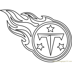 Tennessee Titans Logo Free Coloring Page for Kids