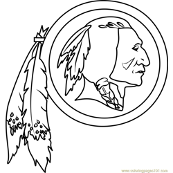Washington Redskins Logo Free Coloring Page for Kids