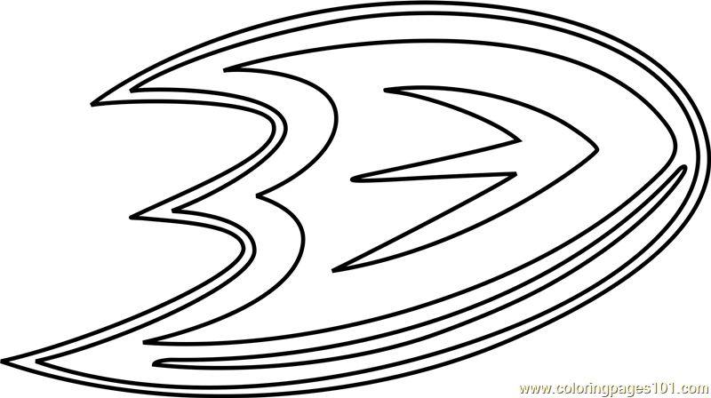 Anaheim Ducks Logo Coloring Page
