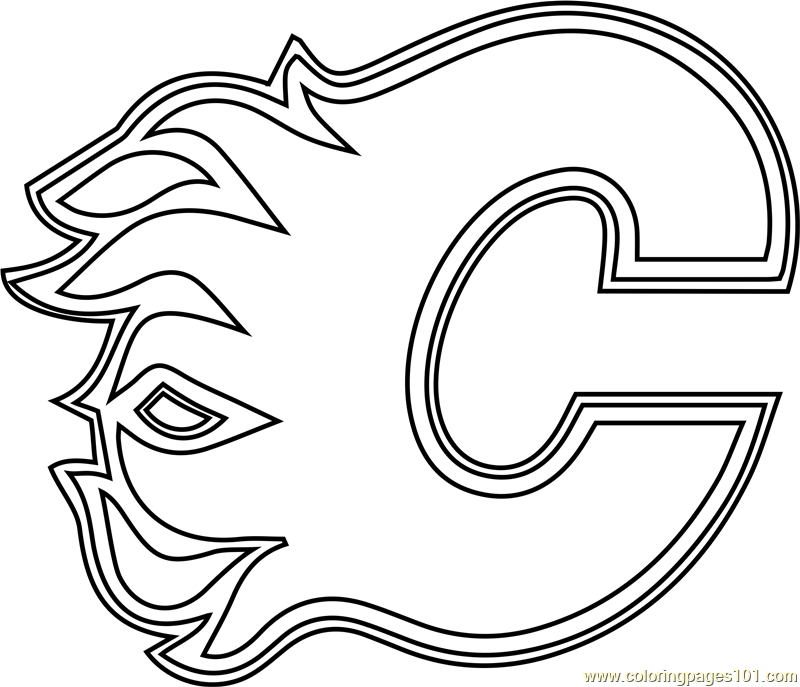 calgary flames logo coloring pages - photo#2