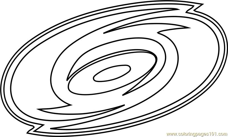 Carolina Hurricanes Logo Coloring Page Free Nhl Coloring