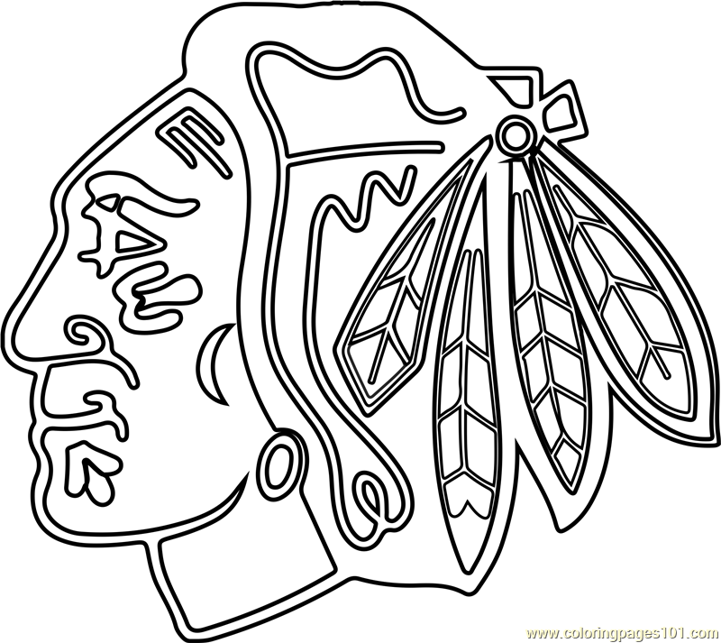 Chicago Blackhawks Logo Coloring Page Free Nhl Coloring
