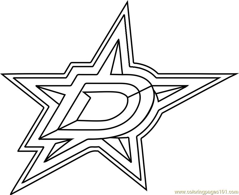 Dallas Stars Logo Coloring Page
