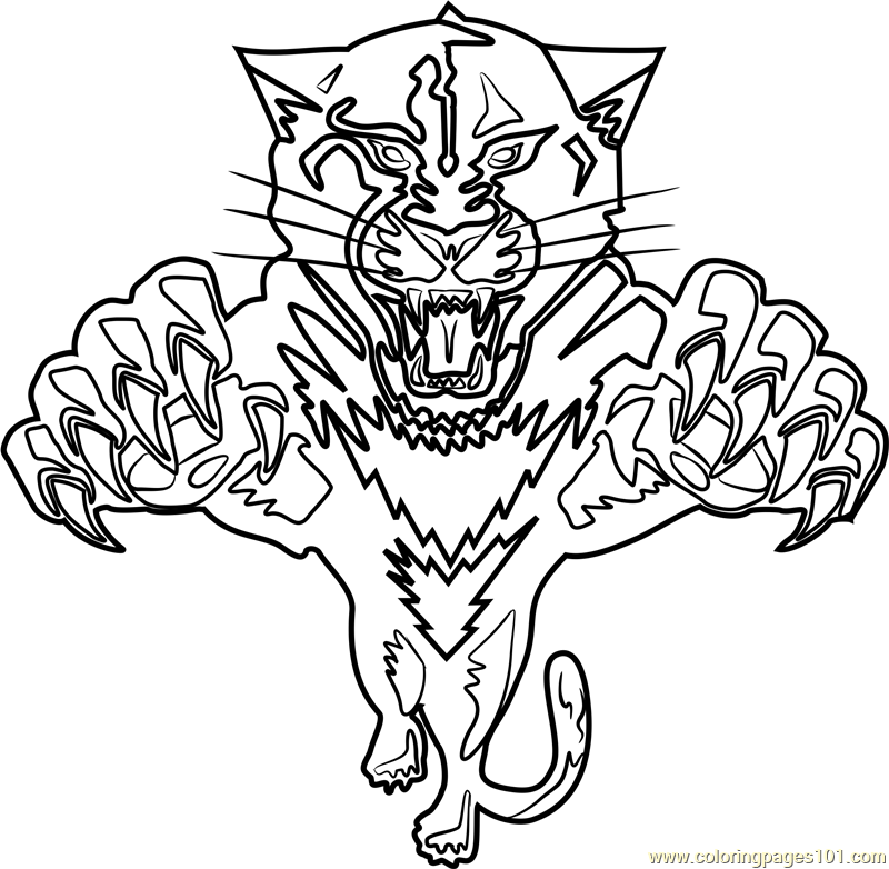 Florida Panthers Coloring Pages - Bltidm