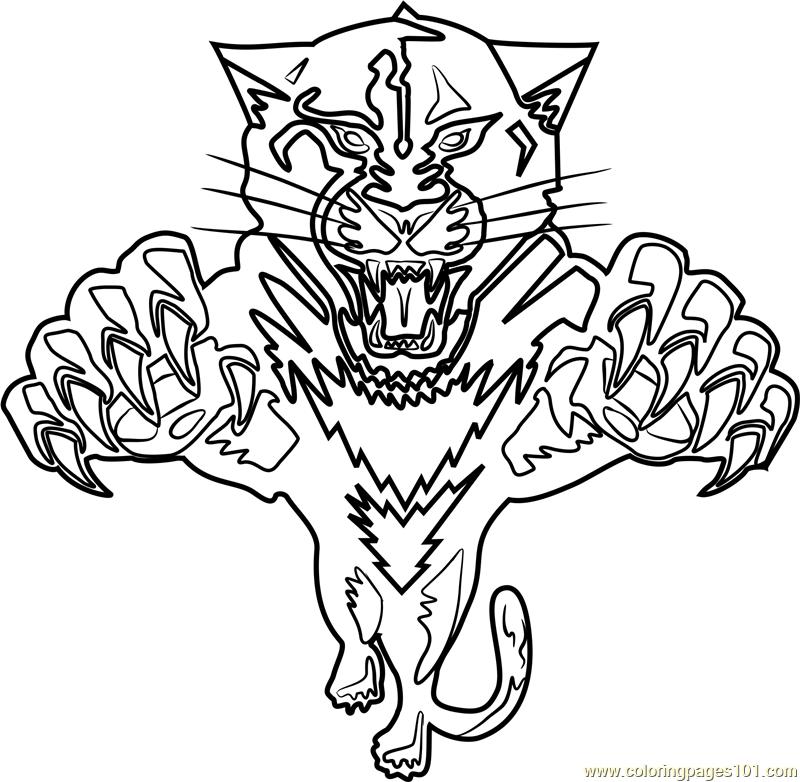 Florida Panthers Logo Coloring Page Free Nhl Coloring