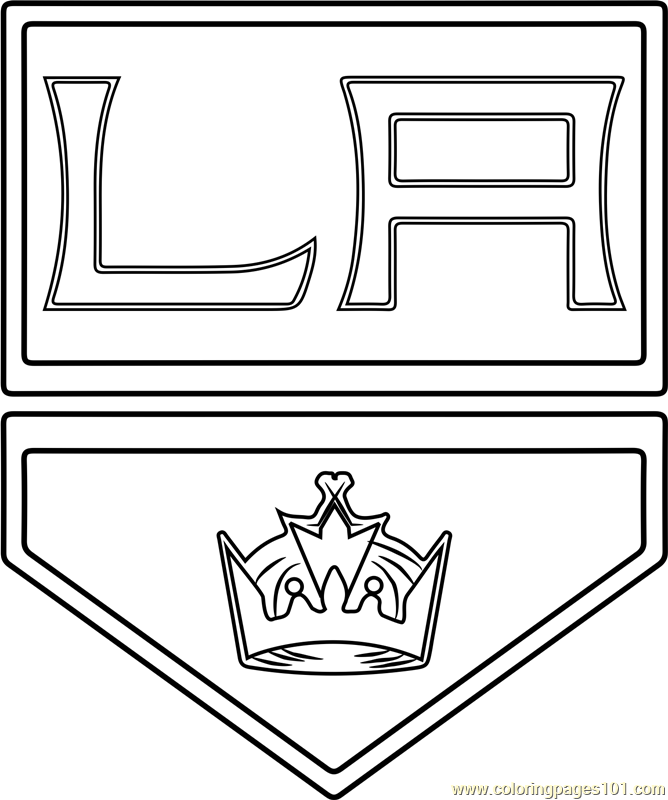 Los Angeles Kings Logo Coloring Page