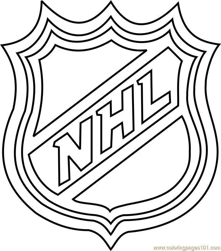 Nhl Logo Coloring Page For Kids Free Nhl Printable Coloring Pages Online For Kids Coloringpages101 Com Coloring Pages For Kids