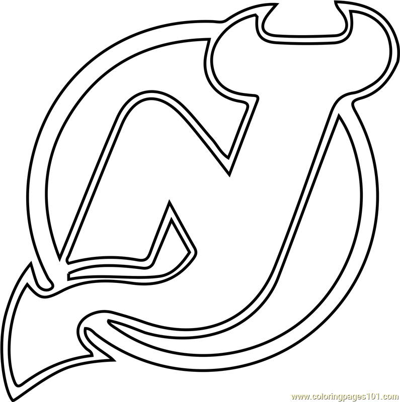 New Jersey Devils Logo Coloring Page