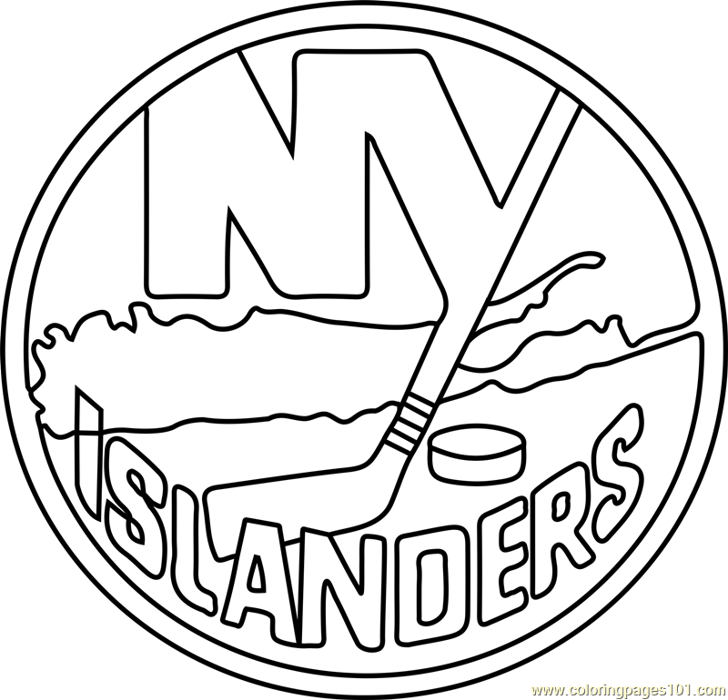 New York Islanders Logo Coloring Page Free Nhl Coloring Pages