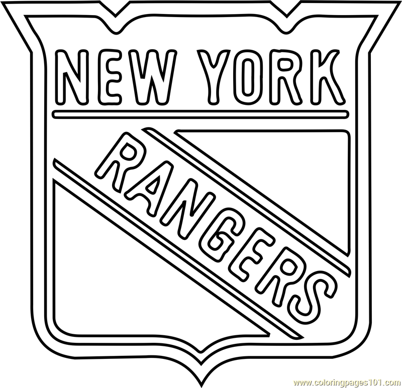 New York Rangers Logo Coloring Page Free Nhl Coloring