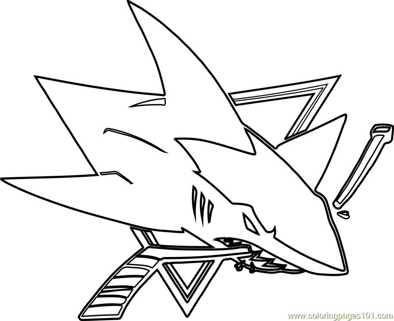 San Jose Sharks Logo Coloring Page - Free NHL Coloring ...