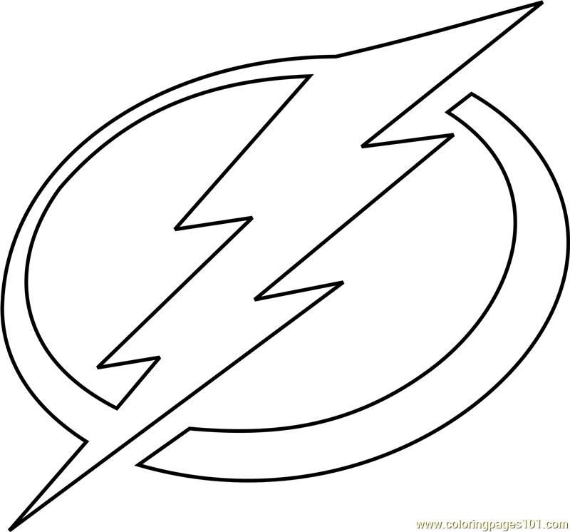 Tampa Bay Lightning Logo Coloring Page Free NHL Coloring