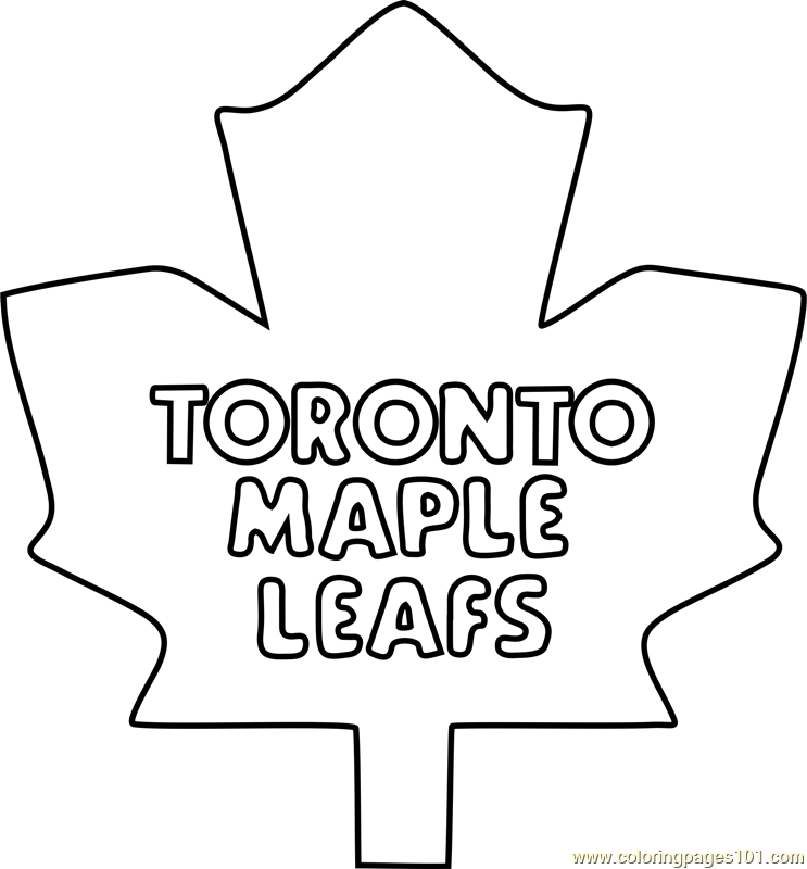 Toronto Maple Leafs Logo Coloring Page - Free NHL Coloring Pages ...