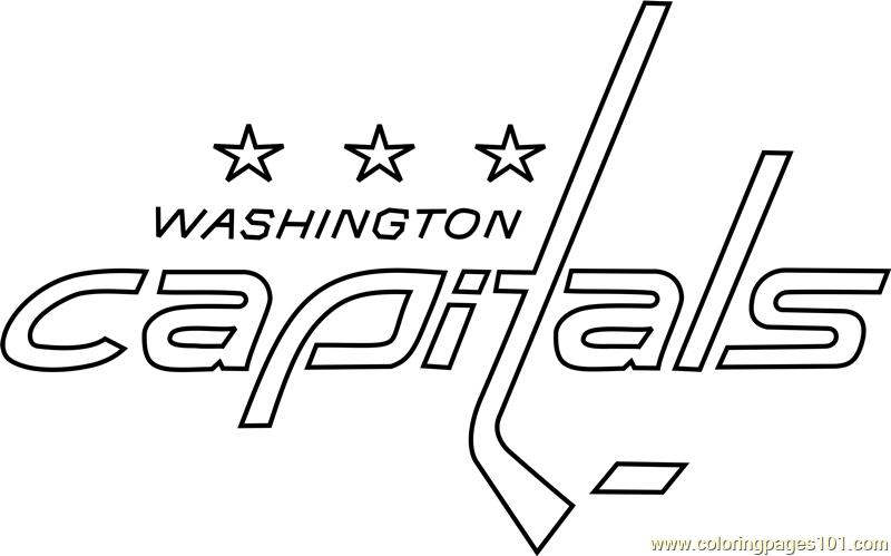 Washington Capitals Logo Coloring