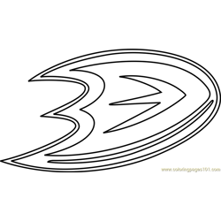 Anaheim Ducks Logo Free Coloring Page for Kids