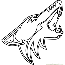 Arizona Coyotes Logo Free Coloring Page for Kids