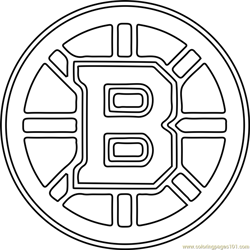 Boston Bruins Logo Free Coloring Page for Kids