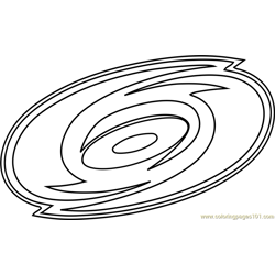 Carolina Hurricanes Logo Free Coloring Page for Kids