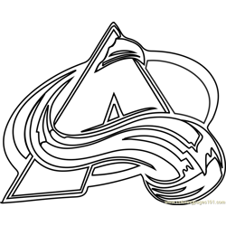 Colorado Avalanche Logo Free Coloring Page for Kids