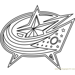 Columbus Blue Jackets Logo Free Coloring Page for Kids