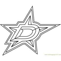 Dallas Stars Logo Free Coloring Page for Kids