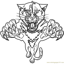 Florida Panthers Logo Free Coloring Page for Kids