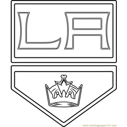 Los Angeles Kings Logo Free Coloring Page for Kids