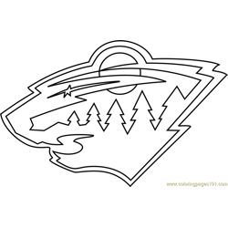 Minnesota Wild Logo Free Coloring Page for Kids