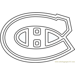 Montreal Canadiens Logo Free Coloring Page for Kids
